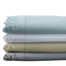 Hotel Lace-Trim Sheet Set (Assorted Colors/Sizes)