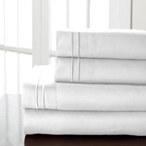 Hotel Double Marrow Microfiber Sheet Sets - Various Sizes & Colors