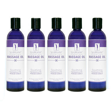 SpaMaster™ Essentials Therapeutic Massage Oil Soothing Blend - 8 oz. - 5 pk.