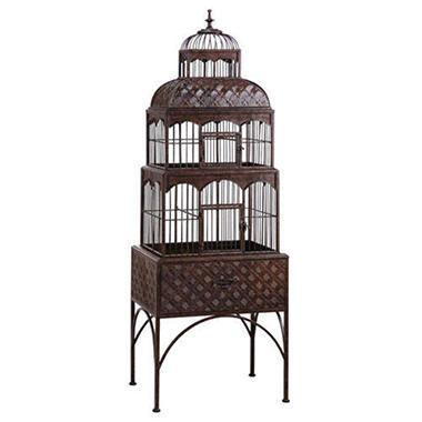Handmade Rustic Iron Bird Cage