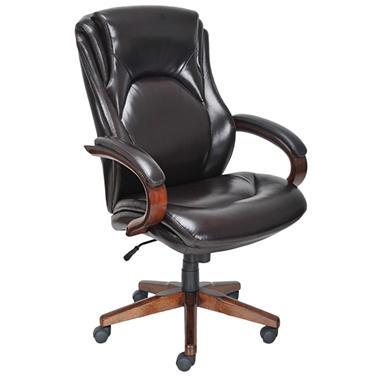 Lane Big & Tall Bonded Leather Executive Chair - Chocolate Brown