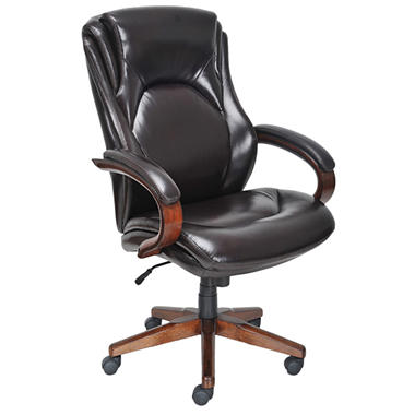 Lane Big & Tall Bonded Leather Executive Chair, Chocolate Brown