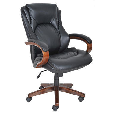 Lane Big & Tall Bonded Leather Executive Chair Black