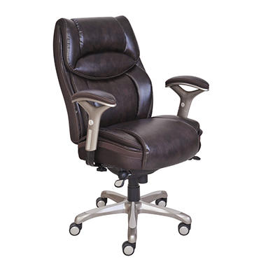Serta Premium Leather Chair, Select Color