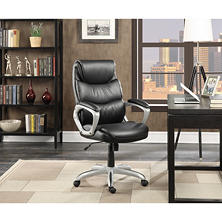 Serta Leather Manager's Office Chair, Black