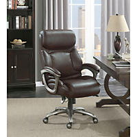 La-Z-Boy Martin Big and Tall Executive Office Chair, Brown