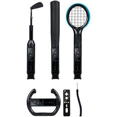 CTA Grand Slam 6-in-1 Sports Pack for the Nintendo Wii - Black