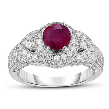 1.5 ct. Ruby & 1 ct. t.w. Diamond Ring