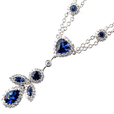 2 ct. t.w. Sapphire & .70 ct. t.w. Diamond Necklace