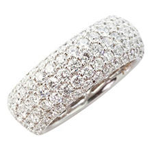 5.0 CT. T.W. Round Diamond Band in 18K White Gold (VS2-SI1)