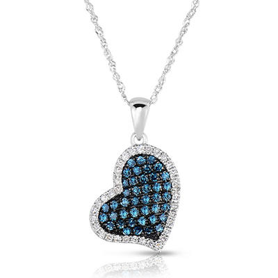.40 CT. T.W. Round Cut Diamond Heart Pendant in 14K White Gold (I, I1)