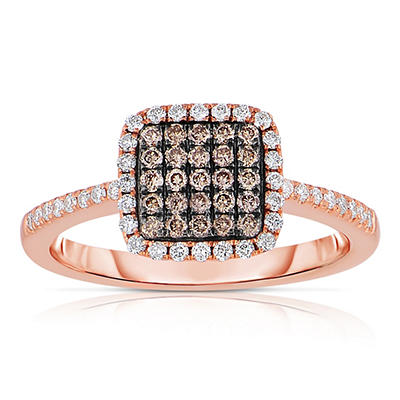 .47 CT. T.W. Round Cut Diamond Ring in 14K Rose Gold