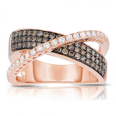 .75 CT. T.W. Round Cut Diamond Ring in 14K Rose Gold