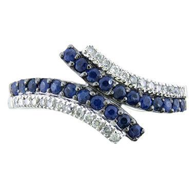 HTD SAPPHIRE  RING .12TW DIAMOND - 14KW