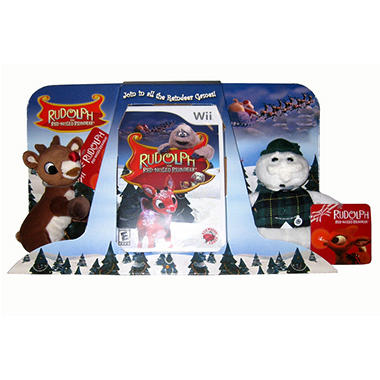 Rudolph the Red-Nosed Reindeer with 2 Plush Toys - Wii