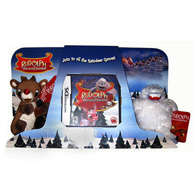 Rudolph the Red-Nosed Reindeer with 2 Plush Toys - DS
