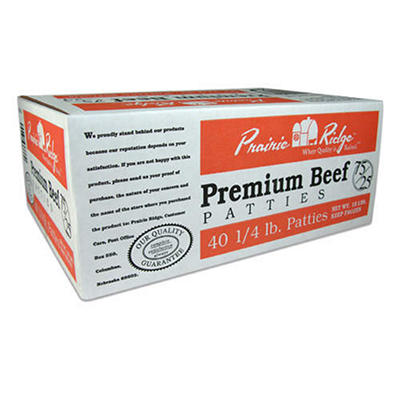Prairie Ridge Premium Beef Patties - 10 lbs. / 40 ct.