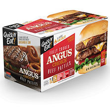 Quick'N Eat Fully Cooked Choice Angus Patties-12ct