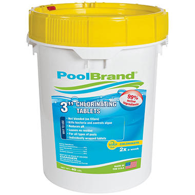 "PoolBrand 3"" Chlorinating Tablets - 40 lb."