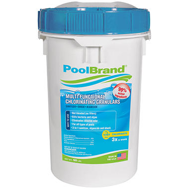 PoolBrand Multi-Functional Chlorinating Granulars - 50 lbs.