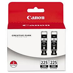 Canon PGI-225PGBK Ink Tank Cartridge, Black (2 pk.)