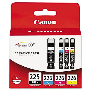 Canon PGI-225PGBK/CLI-226 Ink Tank Cartridge, Black/Cyan/Magenta/Yellow  CNM4530B008AA
