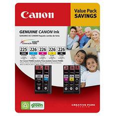 Canon PGI-225/CLI-226 Ink Tank Cartridge, Black/Cyan/Magenta/Yellow/Pigment Black (5 pk.)