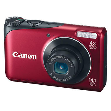 Canon A2200 14.1MP Digital Camera - Red