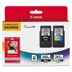 Canon PG-240XL/CLI-241XL High Yield Ink Tank Cartridge & Paper Pack, Combo (2 pk.)
