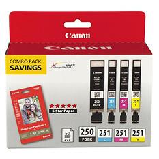 Canon PGI-250BK/CLI-251 Ink Tank Cartridge Combo (4 pk.)