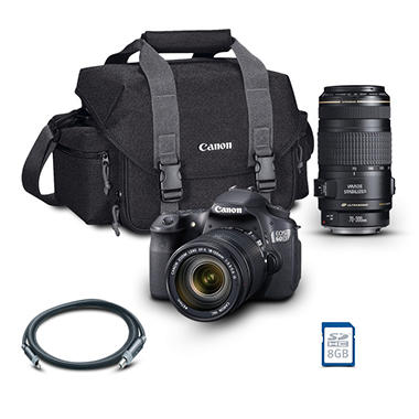 Canon EOS Rebel 60D DSLR Camera Bundle with 18-135mm Lens, 70-300mm Lens, 8GB SD Card, and Camera Bag