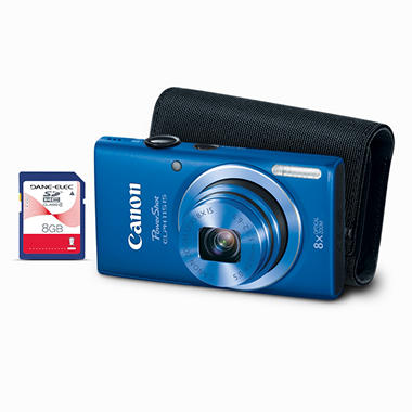 PowerShot ELPH 115 IS Blue MD Bundle with 8GB SD Card and Soft Case