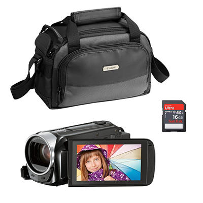 Canon Vixia HF R40 Camcorder Bundle with 16GB SD Card and Soft Case