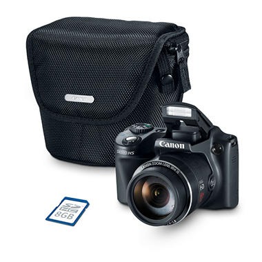 *Tech Savings* Canon PowerShot SX510 HS Bundle with 12.1 MP, 30x Optical Zoom, Camera Case, and 8GB SD card