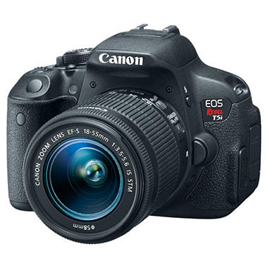 *$899 after $250 Tech Savings* Canon T5i 18MP Digital SLR Bundle with 18-55mm IS Lens, 55-250mm IS Lens, 300DG Gadget Bag, and 16 GB SD Card