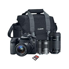 Canon EOS Rebel 70D Camera Bundle with 18-55 STM Lens, 55-250 STM Lens, Camera Bag, and 32GB SD Card