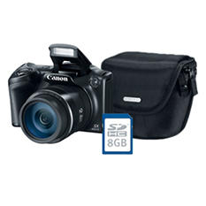 Canon PowerShot SX400 IS Digtial Camera Bundle with 16MP, 30x Optical Zoom, Camera Bag and 8GB SDHC Card
