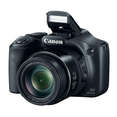 Canon PowerShot SX520 HS 16MP CMOS Sensor Camera Bundle with 42x Zoom, Camera Bag, and 8GB SD Card