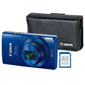 Canon PowerShot Elph 190 IS Bundle with 20MP, 10x Optical Zoom, Camera Case and 8GB SDHC Card