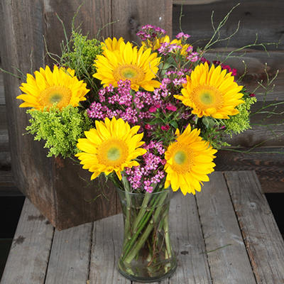 Sunshine Day Bouquet wth Vase