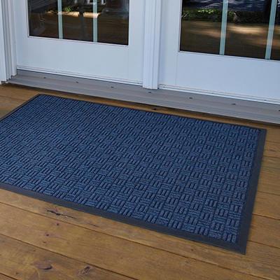 Parquet Door Mat 4' x 6' - Blue