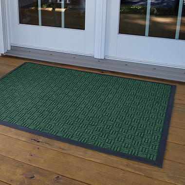 Parquet Door Mat 4' x 6' - Hunter Green