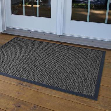Parquet Door Mat 4' x 6' - Charcoal