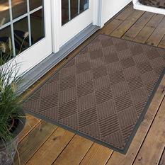Diamond Door Mat 2' x 3' - Brown
