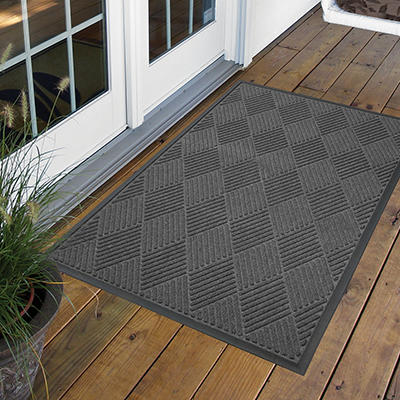 Diamond Door Mat 3' x 5' - Charcoal