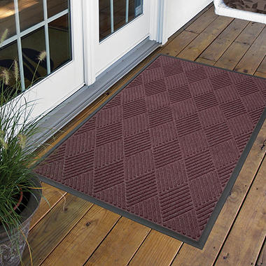 Diamond Door Mat 3' x 10' - Burgundy