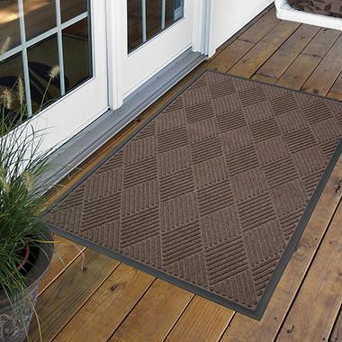 Diamond Door Mat 4' x 6' - Brown