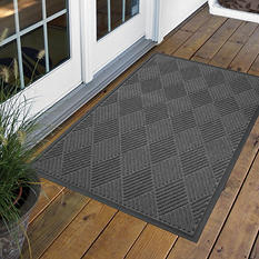 Diamond Door Mat 4' x 6' - Charcoal