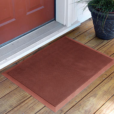 "Brush Clean Mat - 24"" x 32"" - Terra Cotta Red"