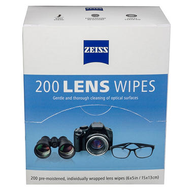 Zeiss Pre-Moistened Lens Cleaning Wipes - 200 ct.